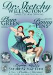 The sensuous siren Plum Green down from Auckland and pin-up delight Penny Pins provided a sensational afternoon of music, burlesque  and drawing. What a perfect mix. Poster illustration by Fifi Colston