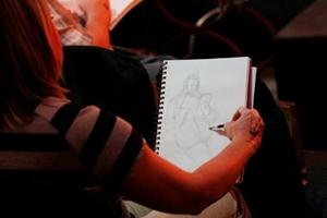 Sketching Again - DSK - Photo by Jason R. Scott