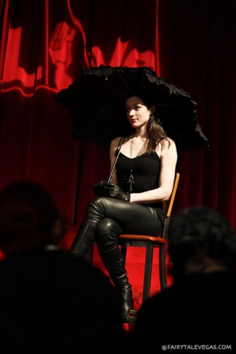 Stoya as Death at Dr. Sketchy Philly. Photo by Lauren Goldberg