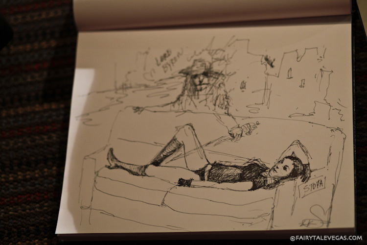 Sketch of Stoya as Death at Dr. Sketchy Philly. Photo by Lauren Goldberg