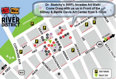 Sketchy Art Walk Map