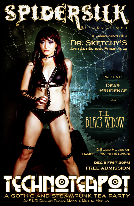 TECHNOTEAPOT: DR. SKETCHY'S PRESENTS CURSE OF THE BLACK WIDOW