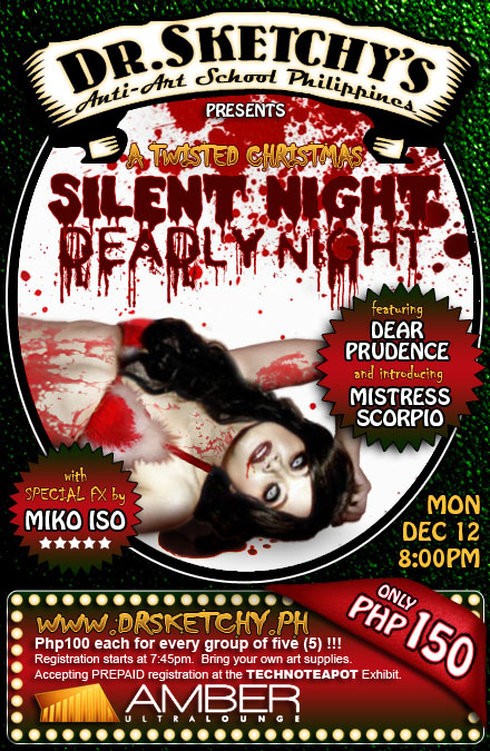 Dr. Sketchy's Anti-Art School Philippines presents SILENT NIGHT, DEADLY NIGHT