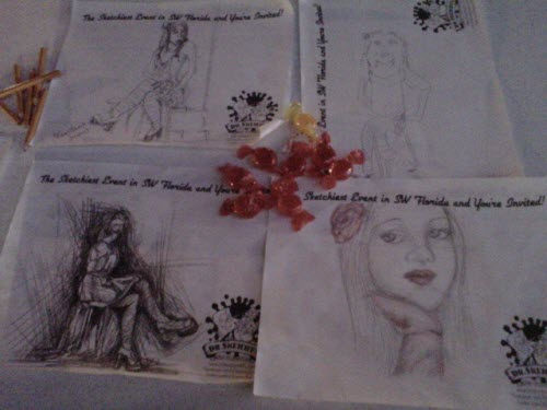 Sketches Drawn at Art Walk