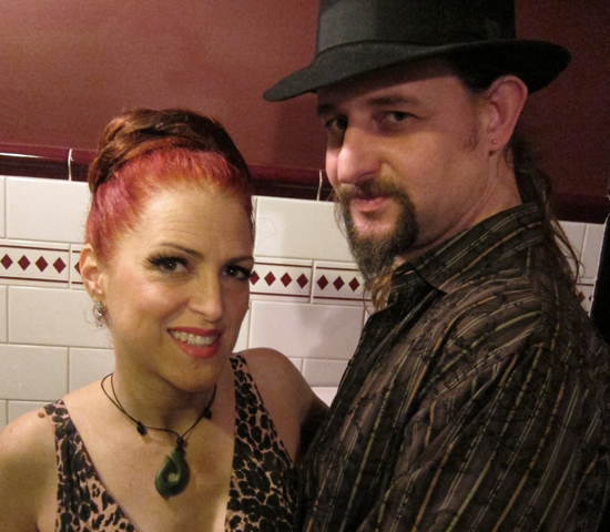 Jo and Jonny at the NZ burlesque festival