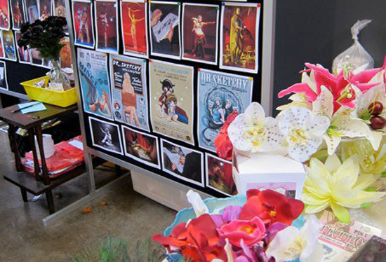 Our stall at the NZ burlesque festival