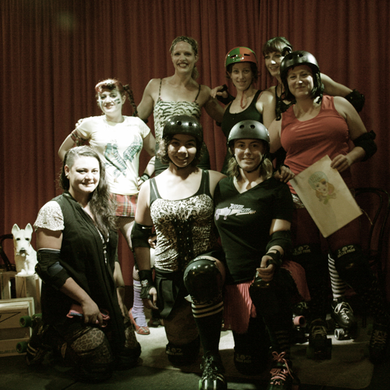 The girls from Richter City Roller Derby